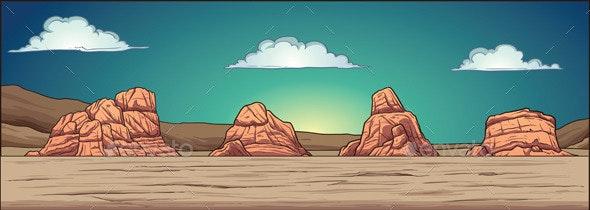 Desert Background - Backgrounds Game Assets
