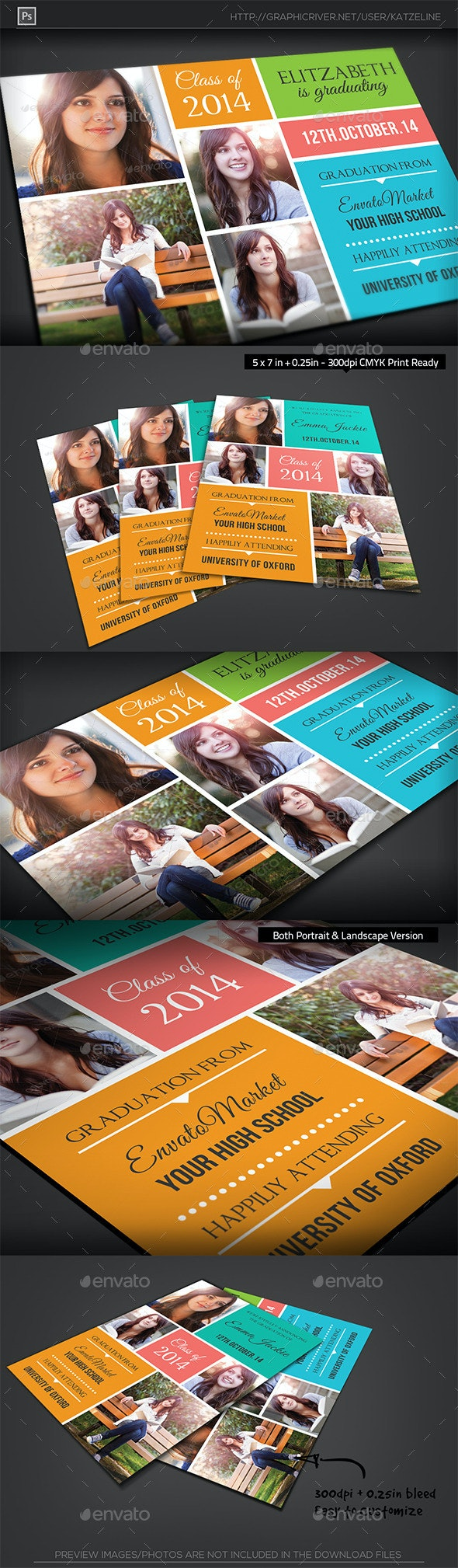 Graduation Announcement Card Template - Greeting Cards Cards & Invites