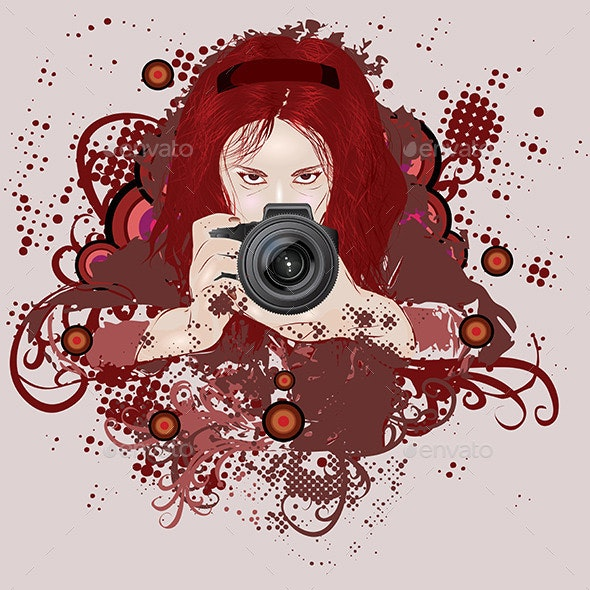 Photographer Girl - People Characters