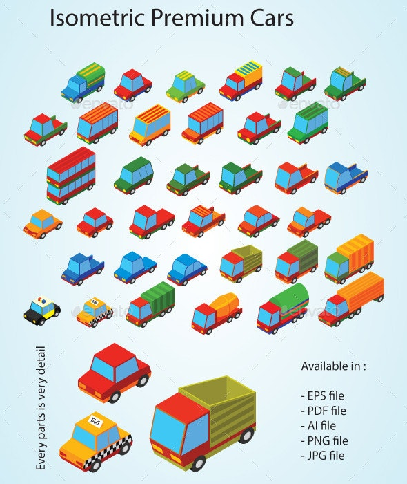 Isometric Premium Cars - Man-made Objects Objects