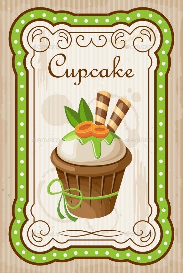 Vintage Cupcake Poster - Birthdays Seasons/Holidays