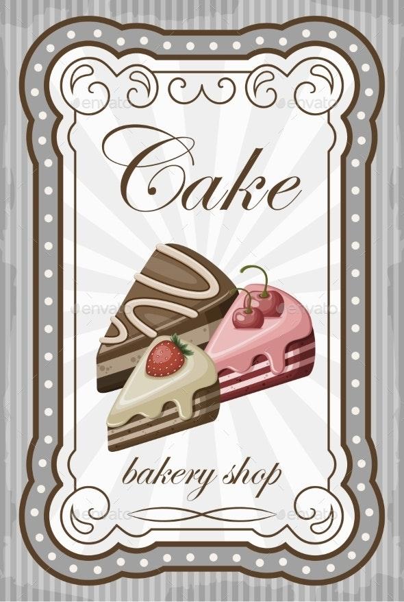 Vintage Cake Poster - Birthdays Seasons/Holidays