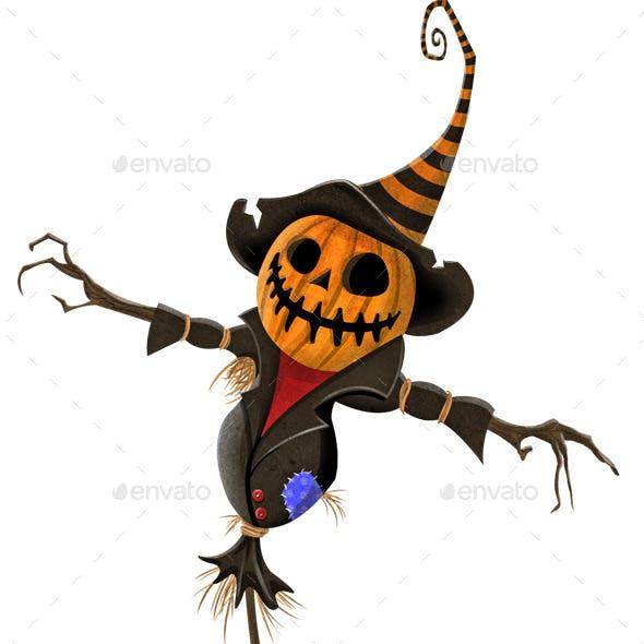 Halloween Jack O' Lantern Scarecrow