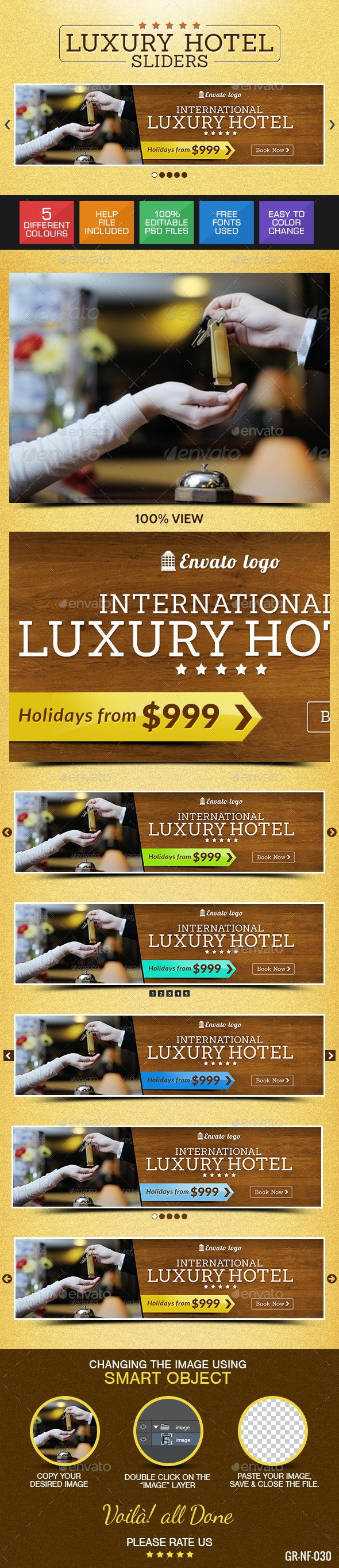 Hotel & Resort Sliders - Sliders & Features Web Elements