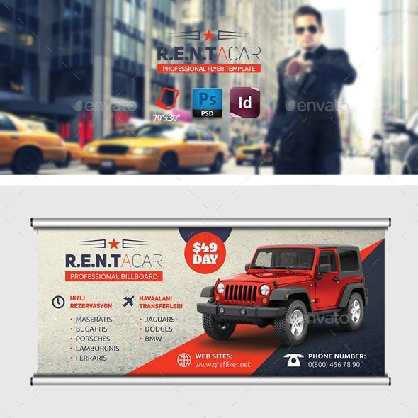 Rent A Car Billboard Templates