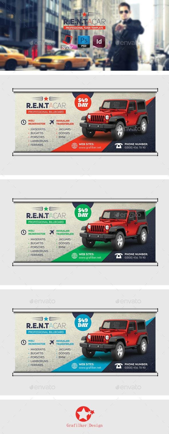 Rent A Car Billboard Templates - Signage Print Templates