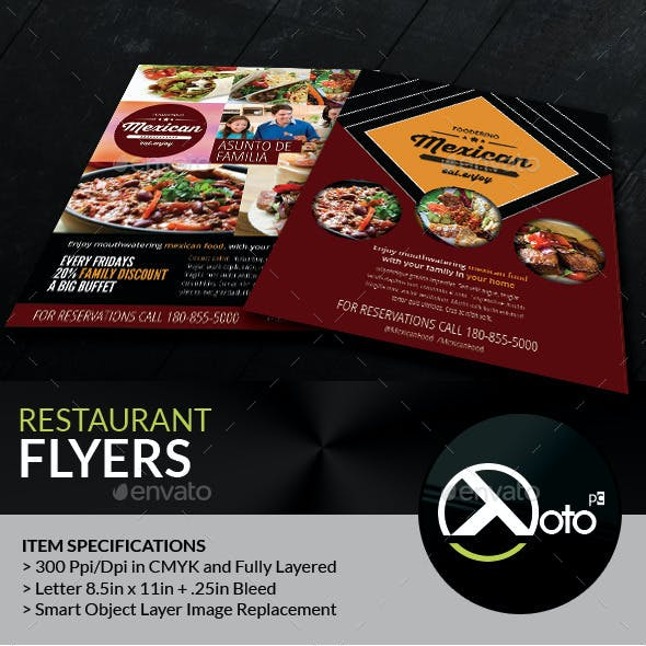 Mexican Restaurant Promotion Flyers
