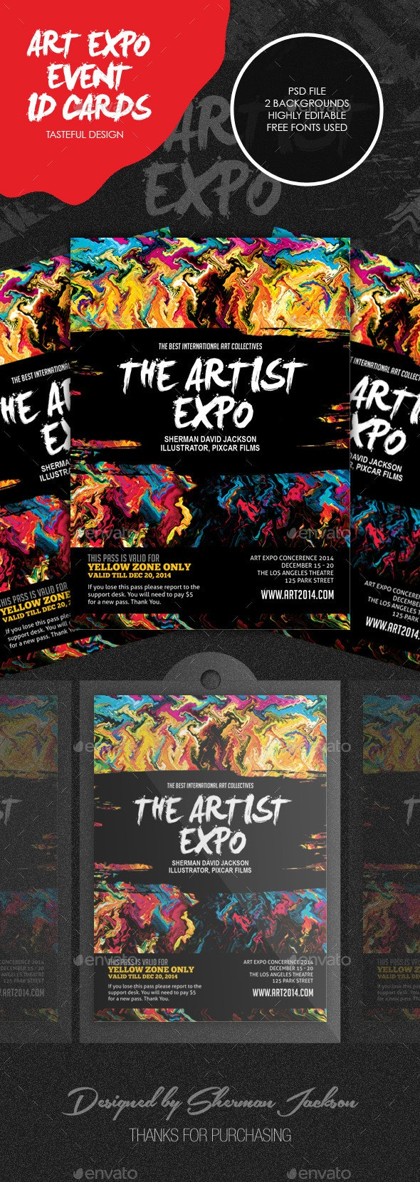Art Event, Show & Expo ID Badge