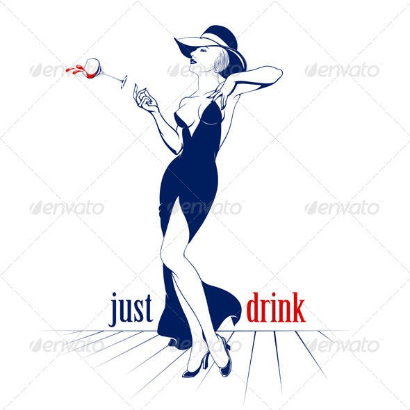 Cocktail Drink Hat Woman