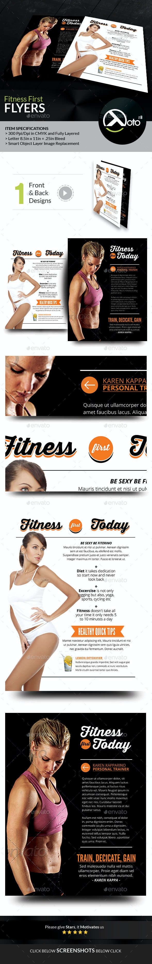 Fitness First Today Health Promotional Flyer - Sports Events