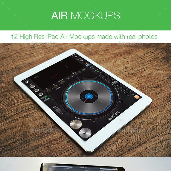 Air Mockups - 12 iPad Air Real Photos Mockups