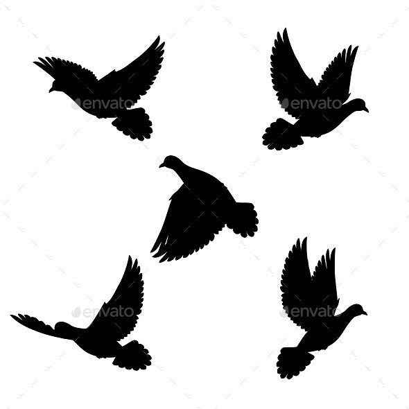 Set Doves - Animals Characters