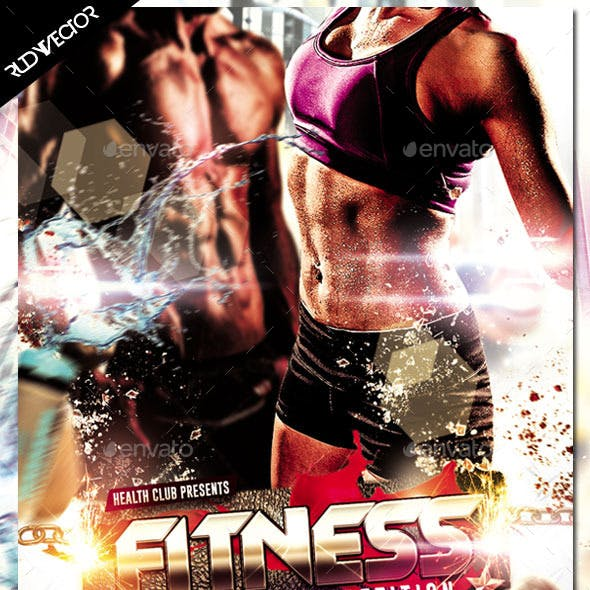 Fitness Sexy Body Workout Muscle Competition Flyer