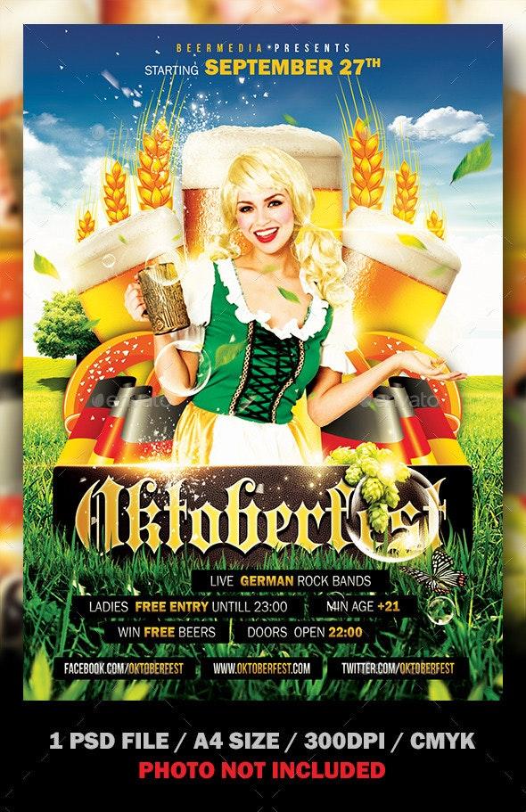 Oktoberfest Flyer / Poster - Clubs & Parties Events