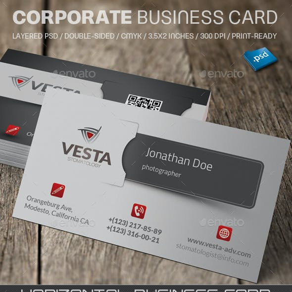 Corporate Business Card V760