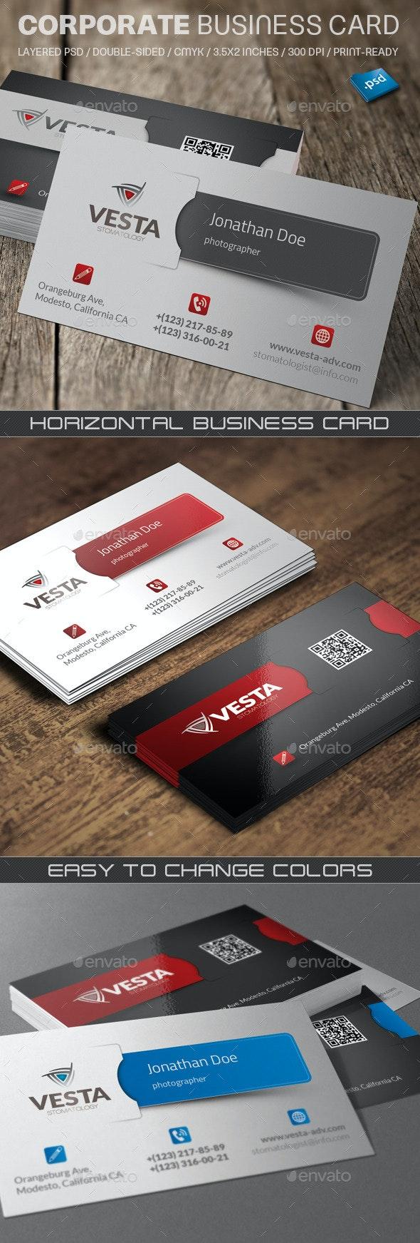 Corporate Business Card V760 - Corporate Business Cards