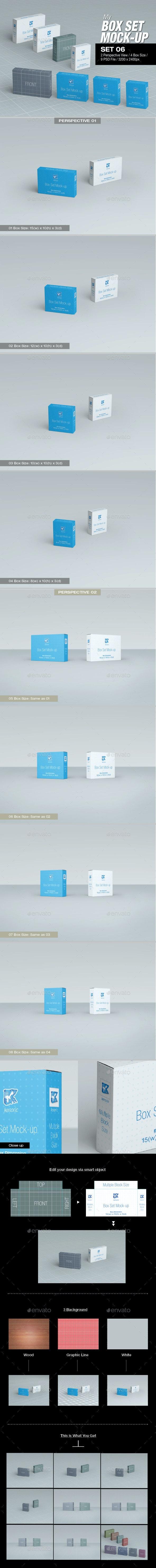 MyBox Set Mock-up - Set 06 - Packaging Product Mock-Ups
