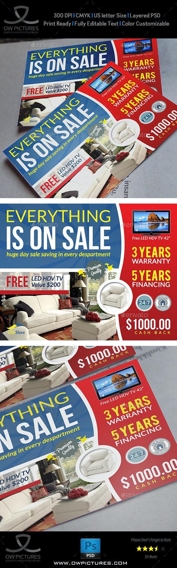 Sale Market Flyer Template - Commerce Flyers