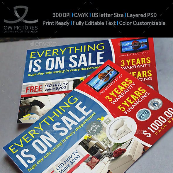 Sale Market Flyer Template