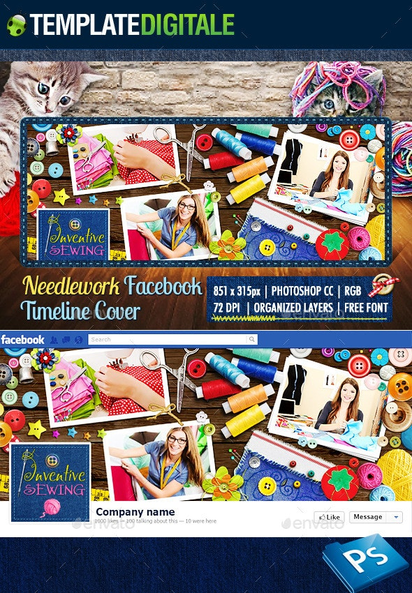 Sewing & Stitching Facebook Cover - Facebook Timeline Covers Social Media