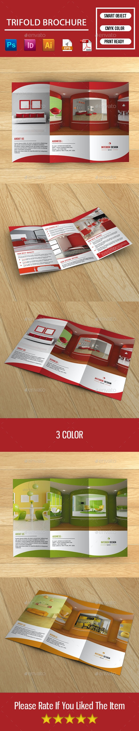 Trifold Brochure for Interior Design - Corporate Brochures