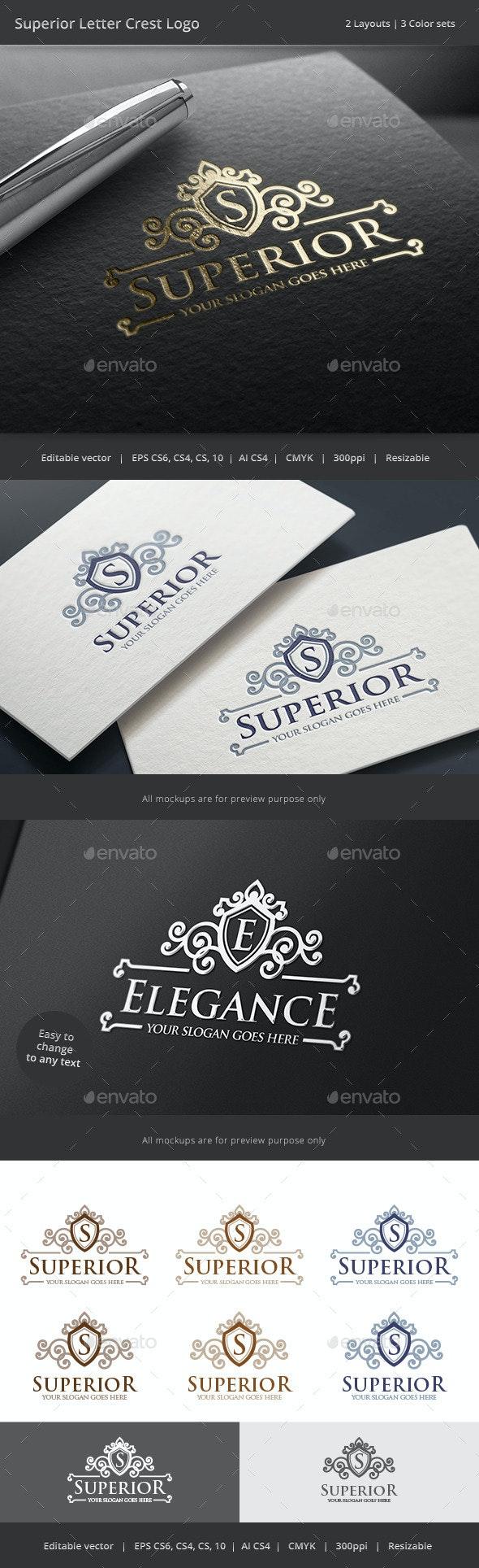 Superior Letter Crest Logo - Crests Logo Templates