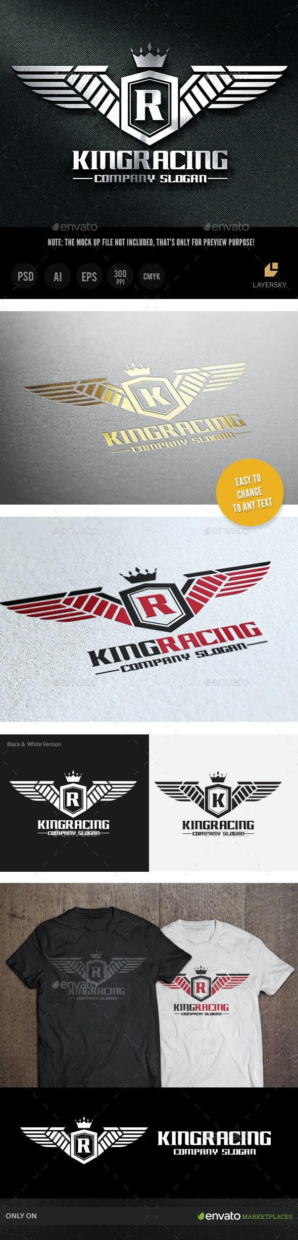 King Racing - Crests Logo Templates