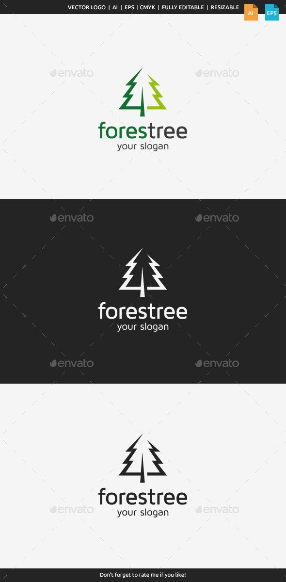Forest Tree Logo - Nature Logo Templates