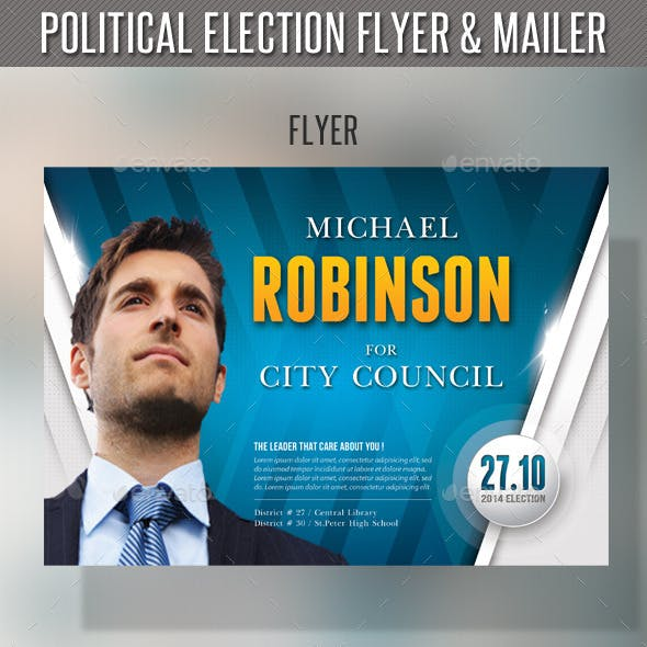 Political Election Flyer and Mailer Template