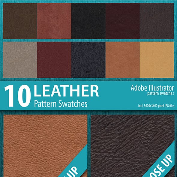 10 Leather Texture Pattern Swatches
