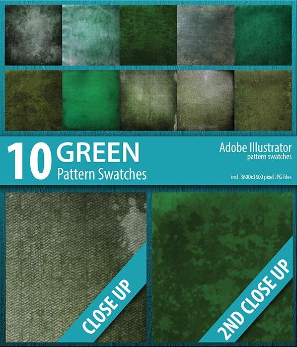 10 Green Grunge Texture Pattern Swatches