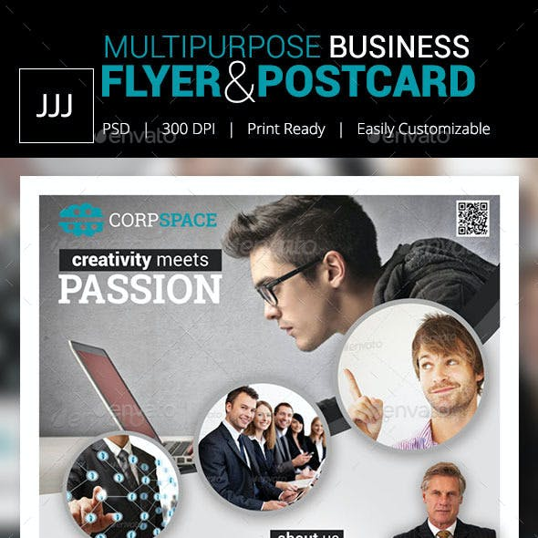 Business Flyer 40 with Postcard