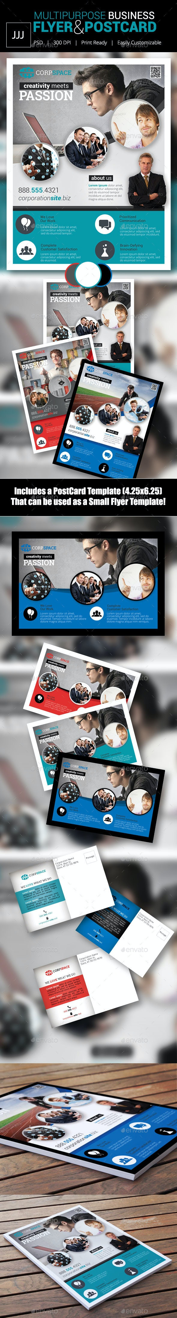 Business Flyer 40 with Postcard - Corporate Flyers