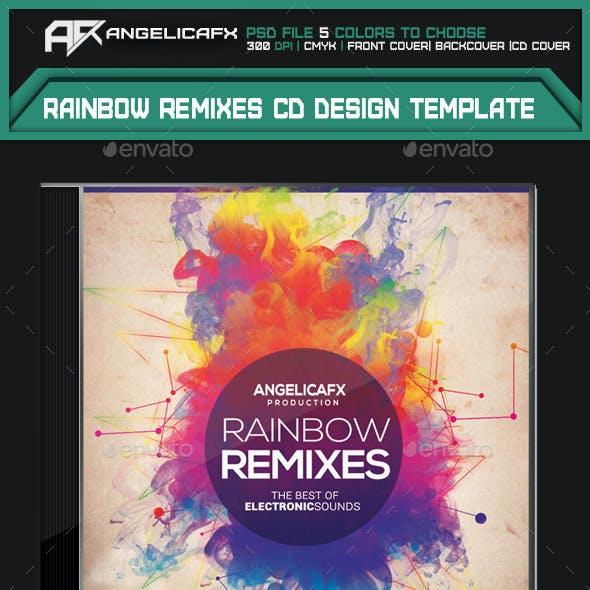 Rainbow Remixes CD Design Template