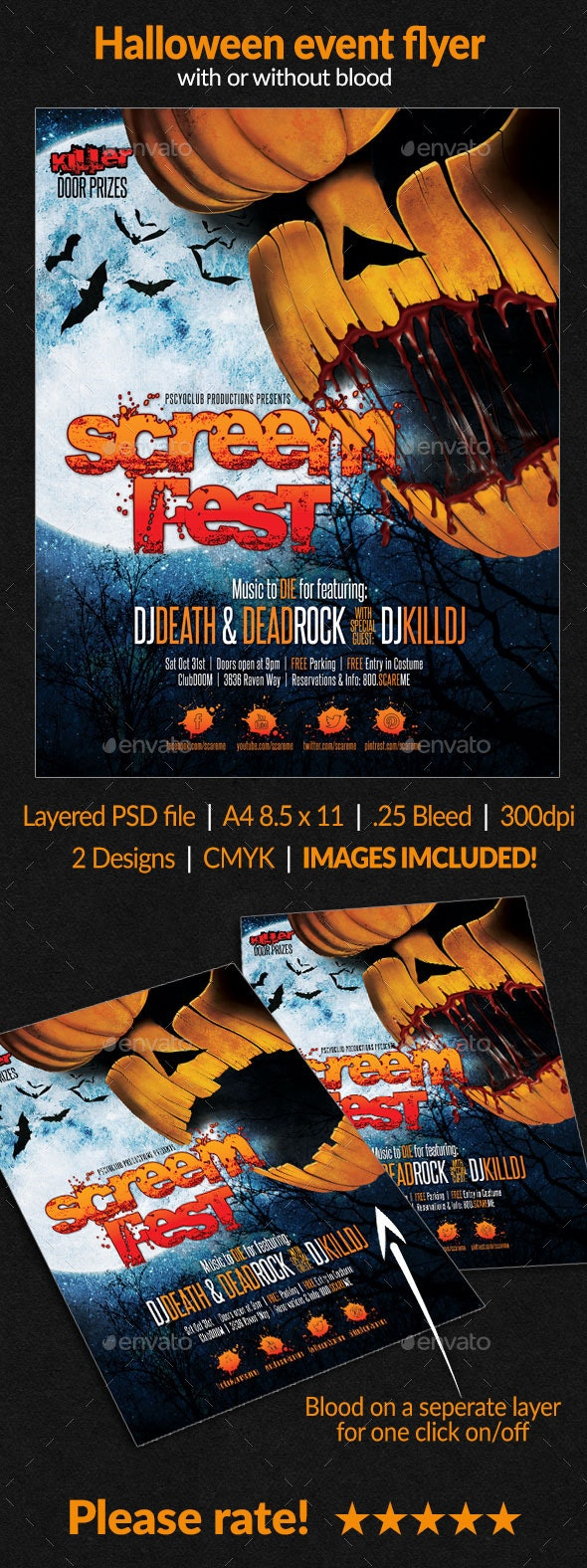 Halloween event flyer - Holidays Events