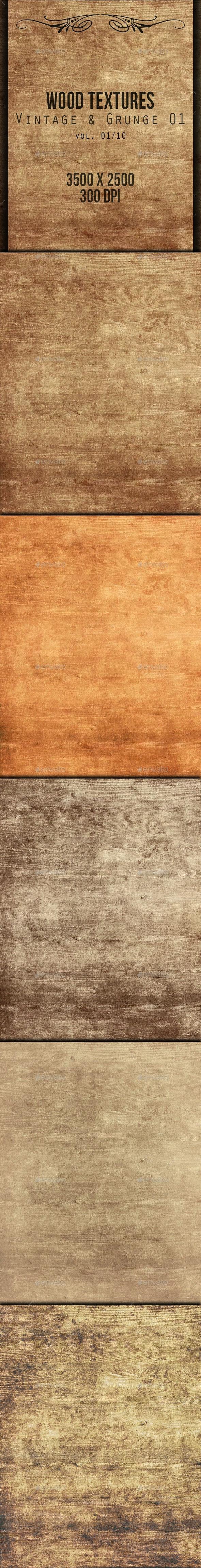 Wood Textures - Vintage & Grunge 01 vol. 01 - Wood Textures