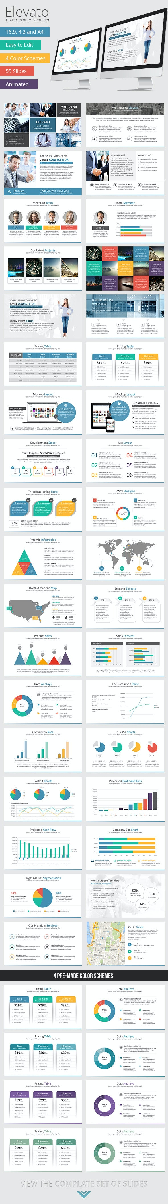 Elevato PowerPoint Presentation Template - Business PowerPoint Templates
