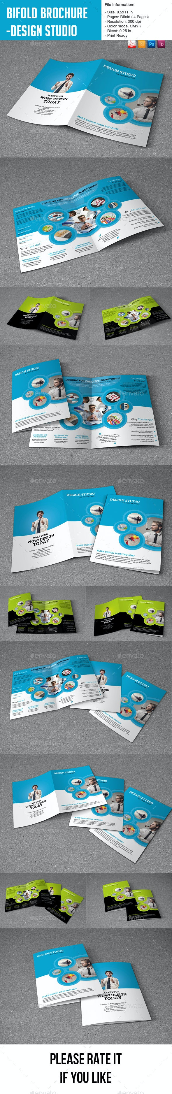 Bifold Brochure for Design Studio- 4 Pages - Corporate Brochures