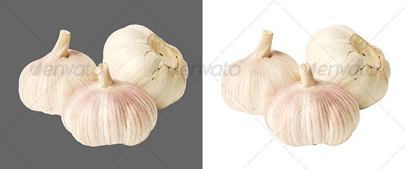 Garlic cloves - Food & Drink Isolated Objects