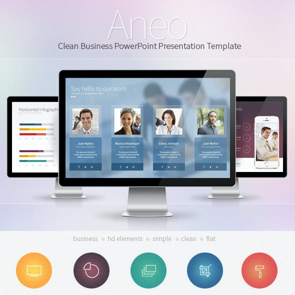 Aneo - Clean Business PowerPoint Presentation Template
