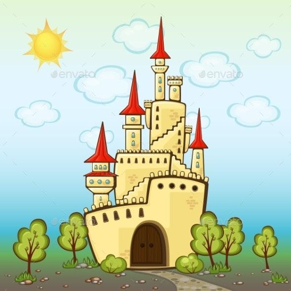 Castle in Cartoon Style - Miscellaneous Vectors