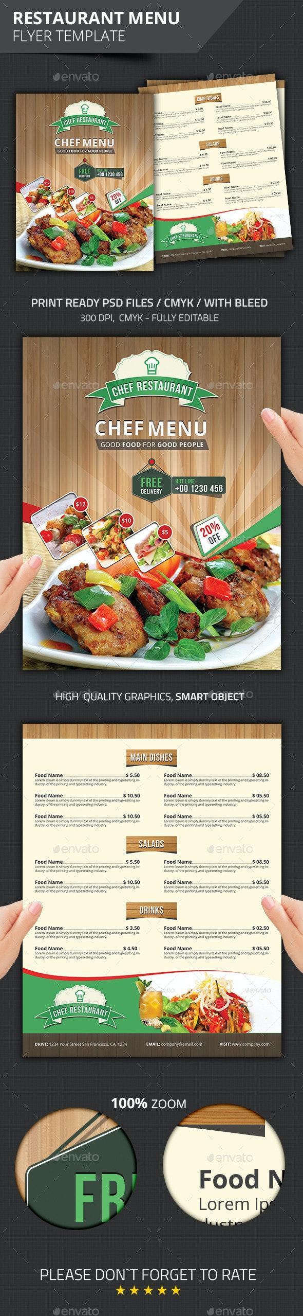 Restaurant Menu - Flyers Print Templates
