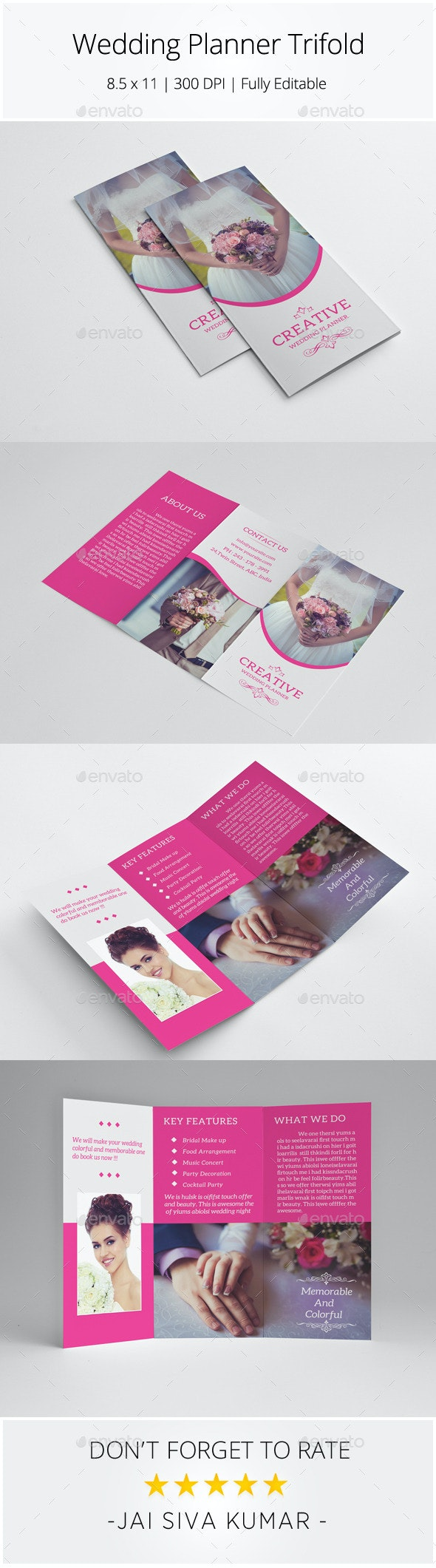 Wedding Planner Trifold - Informational Brochures