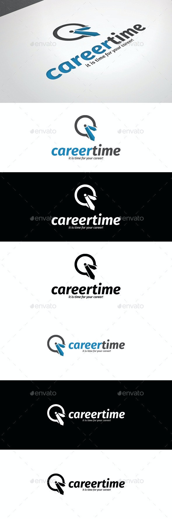 Career Time Logo Template - Logo Templates