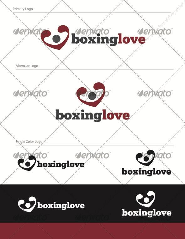 Boxinglove Logo Design - HUM-001 - Humans Logo Templates