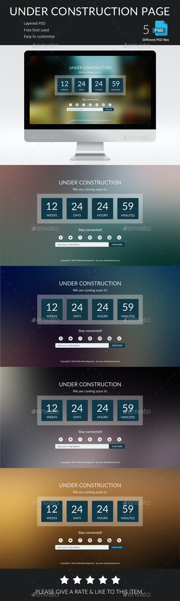 Under Construction Page - 404 Pages Web Elements