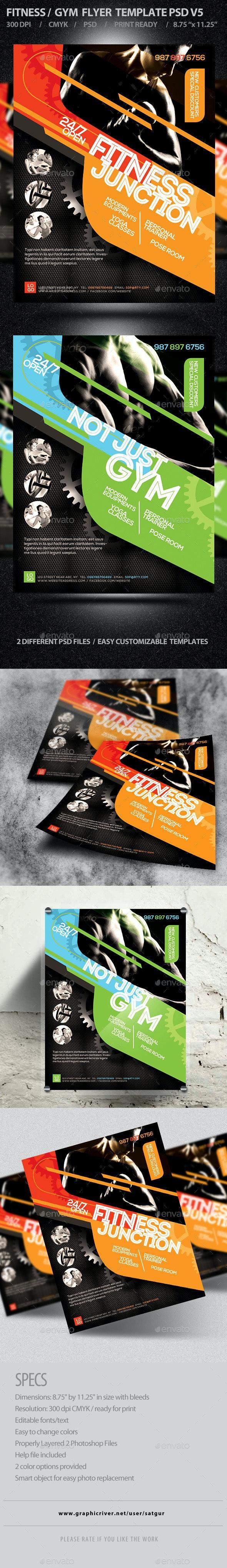 Fitness/Gym Business Promotion Flyer V2 - Corporate Flyers