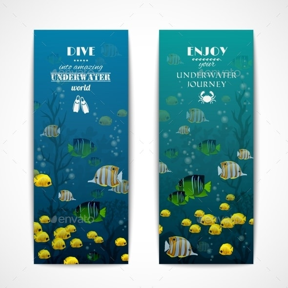 Diving Vertical Banners - Miscellaneous Conceptual