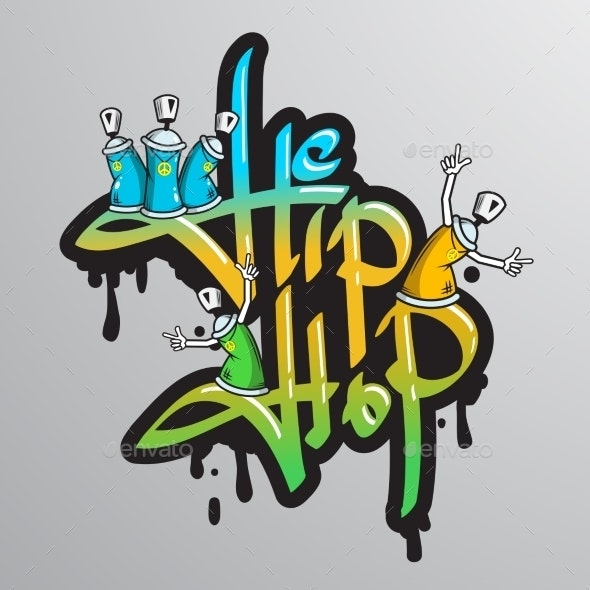 Graffiti Word Characters Print - Miscellaneous Vectors
