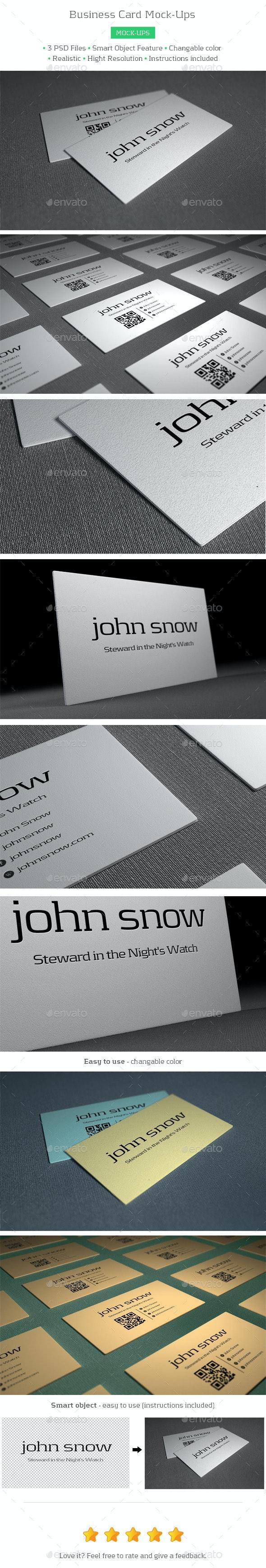 Business Card Mock-Ups - Business Cards Print